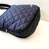 Женские стеганные сумки оптом (ЧЕРНЫЙ)30*34см, фото 3