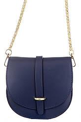 Жіноча шкіряна сумка OFRA diva's Bag колір темно-синій
