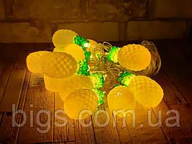 Светодиодная LED гирлянда фигурки ананасы 12шт 5м