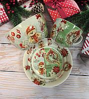 Набор детской посуды Новогодний мишка 924-513