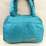 Дутые СПОРТИВНЫЕ сумки под пуховик Adidas БОЛЬШ (ГОЛУБОЙ-БЕЛЫЙ)30*40см, фото 2
