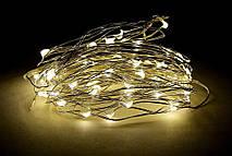 Гирлянда Bonita Капельки Росы 60 лампочек Белый Теплый, 1 линия 600 см, прозрачный провод, от батареек