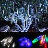 Гирлянда Метеоритный дождь, 1шт, 48 led, белая, прозрачный провод, 100 см., фото 6