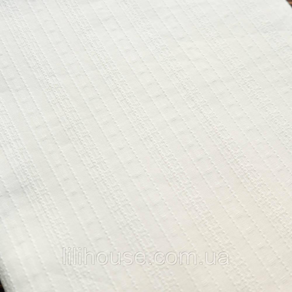 """Шитье Мережка на батисте тонкий Фактурный Хлопок для кукол """"Полосы горизонтальные молоко"""", 25*42 см"""