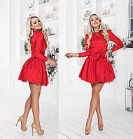 """Стильное платье мини """" Жаккард """" Dress Code, фото 1"""