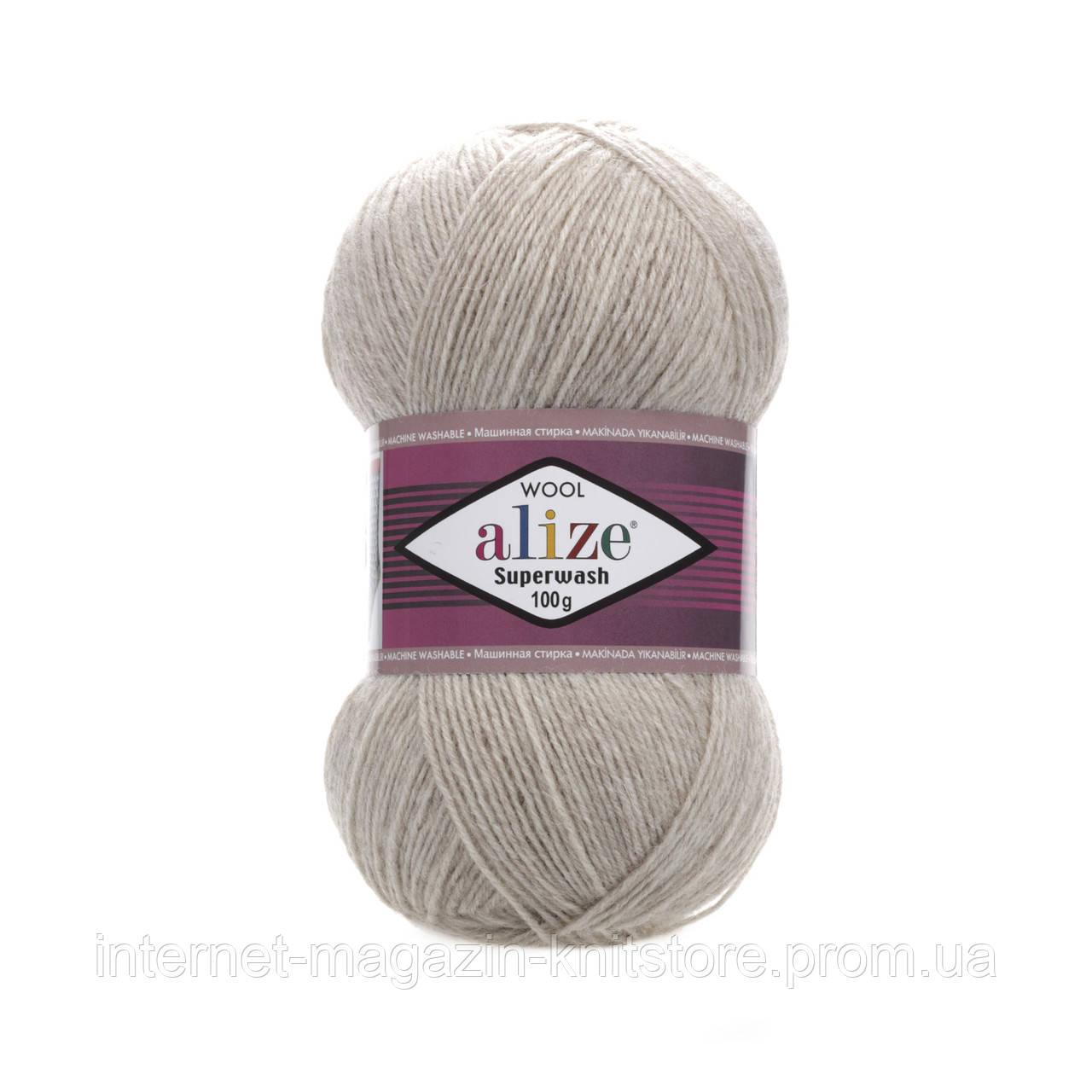 Пряжа Alize Superwash 100 Серый