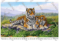 """Схема для вишивки бисером """"Пара тигров"""""""