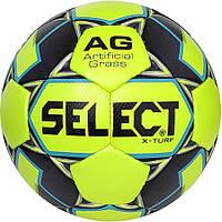 Мяч футбольный SELECT X-Turf (010), желт/серый р.4