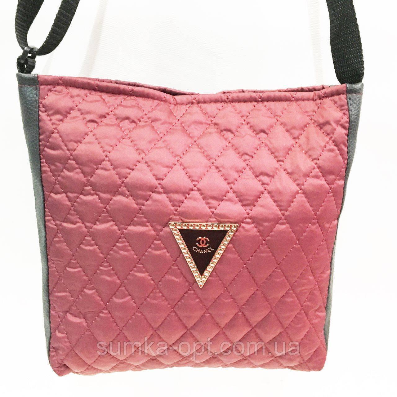 Стеганные сумочки и клатчи на плечо Chanel (БОРДО)23*28см