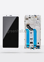 Оригинальный дисплейный модуль Xiaomi Redmi 5 Plus (Белый). Экран + тачскрин + рамка