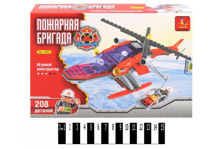 """Конструктор Ausini 21501 """"Спасательный вертолёт"""", 208 дет."""