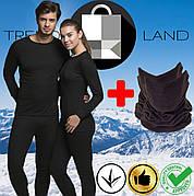 Два комплекта термобелья мужское/женское + два флисовых баффа до - 25°С по норвежской технологии