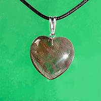 Кулон сердечко с раухтопазом, серебро, 1148КЛР