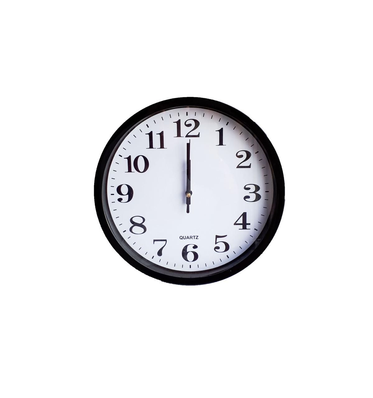 Часы настенные круглые Abir 200BL с плоской окружностью. опт