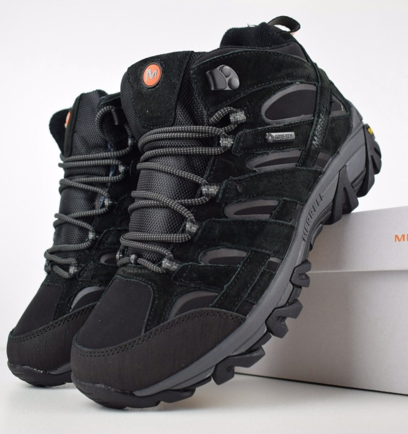 Зимові чоловічі черевики Merrell Moab високі чорні 41-46 рр. Живе фото. Репліка