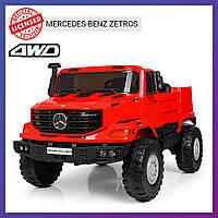 Детский электромобиль Mercedes benz c пультом Bambi M 3990 EBLR-3 красный|Дитячий електромобіль Бембі червоний
