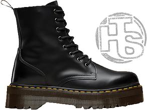 Женские ботинки Dr.MartensJadonBlack Polished Smooth Boots (с мехом) 15265001