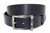 Мужской кожаный ремень в черном цвете в стиле Tommy Hilfiger (9911251)