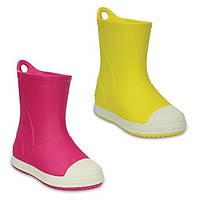 Сапоги резиновые для девочки Crocs Kids Bump It Rain Boot / дождевики с усиленным носком