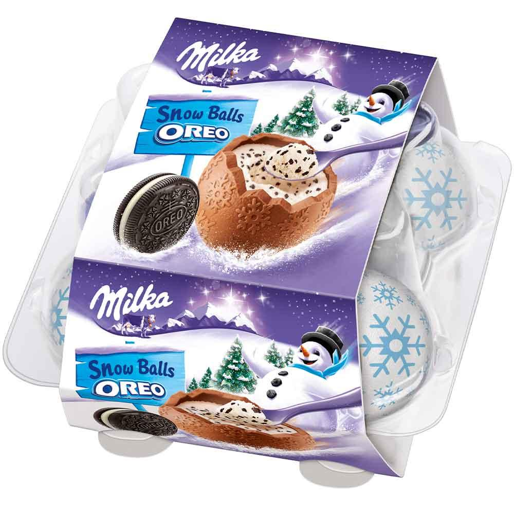 Шоколадные яйца Milka Snow Balls Oreo 112 g