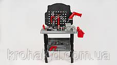 Детский игровой набор инструментов 16554B: верстак, дрель-вращ.сверло, 50 деталей, на батар, 47-57-10см, фото 3