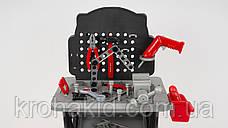 Детский игровой набор инструментов 16554B: верстак, дрель-вращ.сверло, 50 деталей, на батар, 47-57-10см, фото 2
