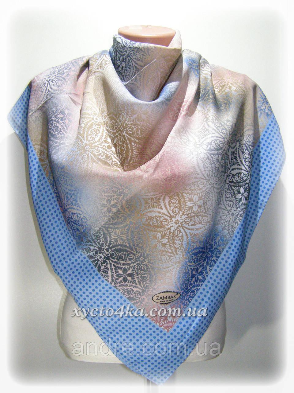 Шерстяной платок Конфети, голубой с розовым