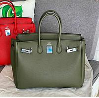 Женская брендовая сумка Hermes Birkin Гермес зеленая
