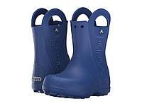Сапоги резиновые для мальчика дождевики Кроксы с ручками / Crocs Kids Handle It Rain Boot (12803), Синие, фото 1