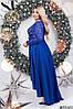 Платье  БАТАЛ нарядное в расцветках 48172, фото 4