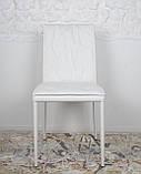 Обідній стілець NAVARRA (Навару) кожзам білий Nicolas, фото 3