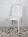 Обідній стілець NAVARRA (Навару) кожзам білий Nicolas, фото 4