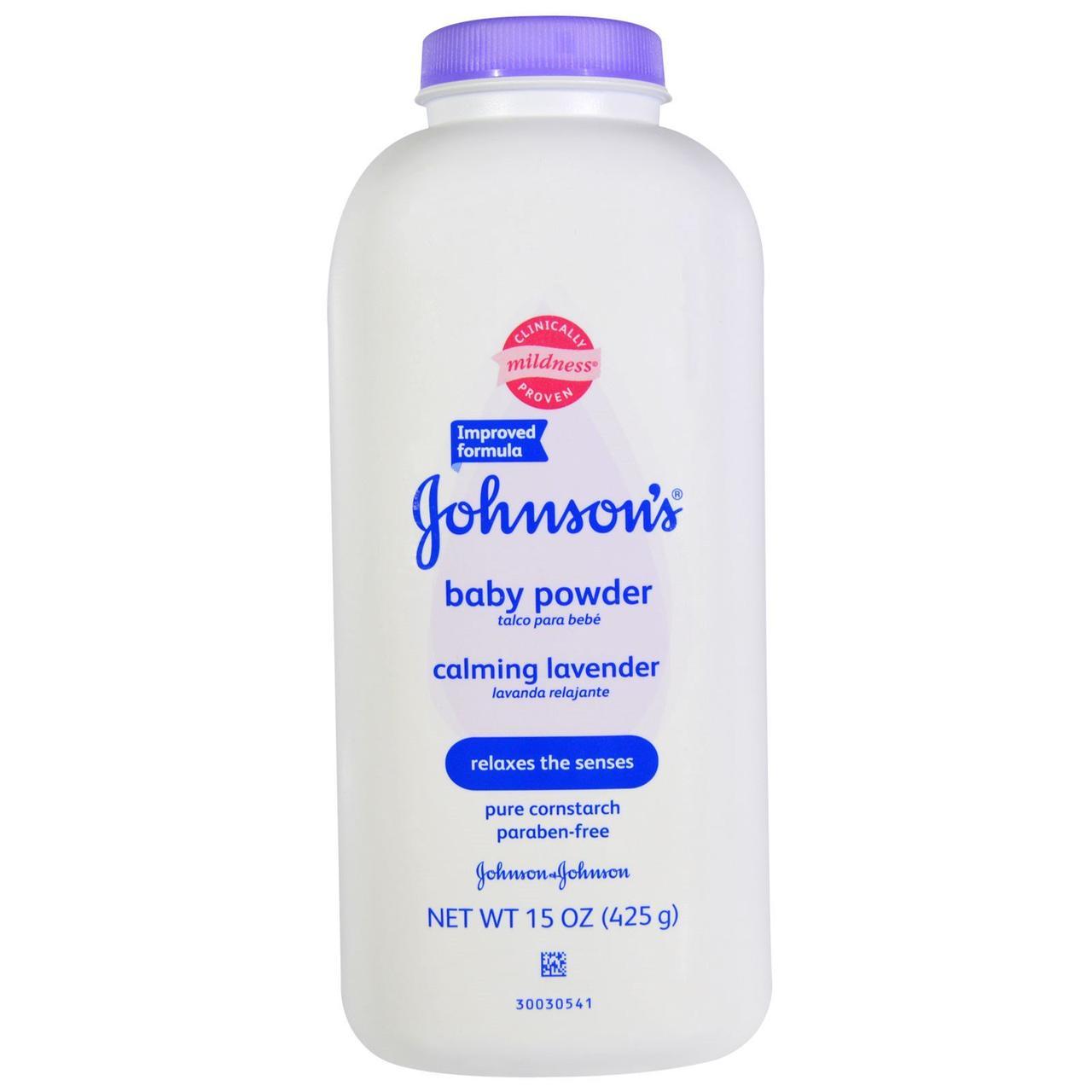 Johnson's Baby, Дитяча присипка, заспокійлива лаванда, 425 г (15 унцій)