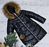 Зимняя куртка 35 DH цвет черный на 100% холлофайбере размеры от 134 см до 158 см рост