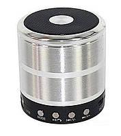 🔝 Портативная bluetooth колонка, WS-887 Mini Speaker, беспроводная блютуз колонка + радио Металик🚚