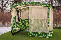 Качели садовые раскладывающееся Патио ЮМК зелёная с салатовым