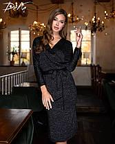 Сукня міді з люрексом в кольорах 04р15263, фото 2