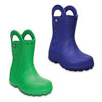 Сапоги резиновые для мальчика Crocs Kids Handle It Rain Boot / дождевики с ручками
