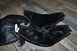 Шкіряні наколінники з хутром, утеплювач колін (36см - висота). Універсальний розмір., фото 2