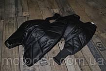 Шкіряні наколінники з хутром, утеплювач колін (36см - висота). Універсальний розмір.