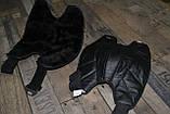 Шкіряні наколінники з хутром, утеплювач колін (36см - висота). Універсальний розмір., фото 5