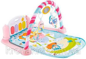 Детский развивающий коврик с пианино и дугой с подвесками, со звуком Magic Kids 9903 Original, фото 2
