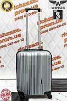 Маленький дорожный чемодан поликарбонат серый на 4 колесах WINGS Одесса
