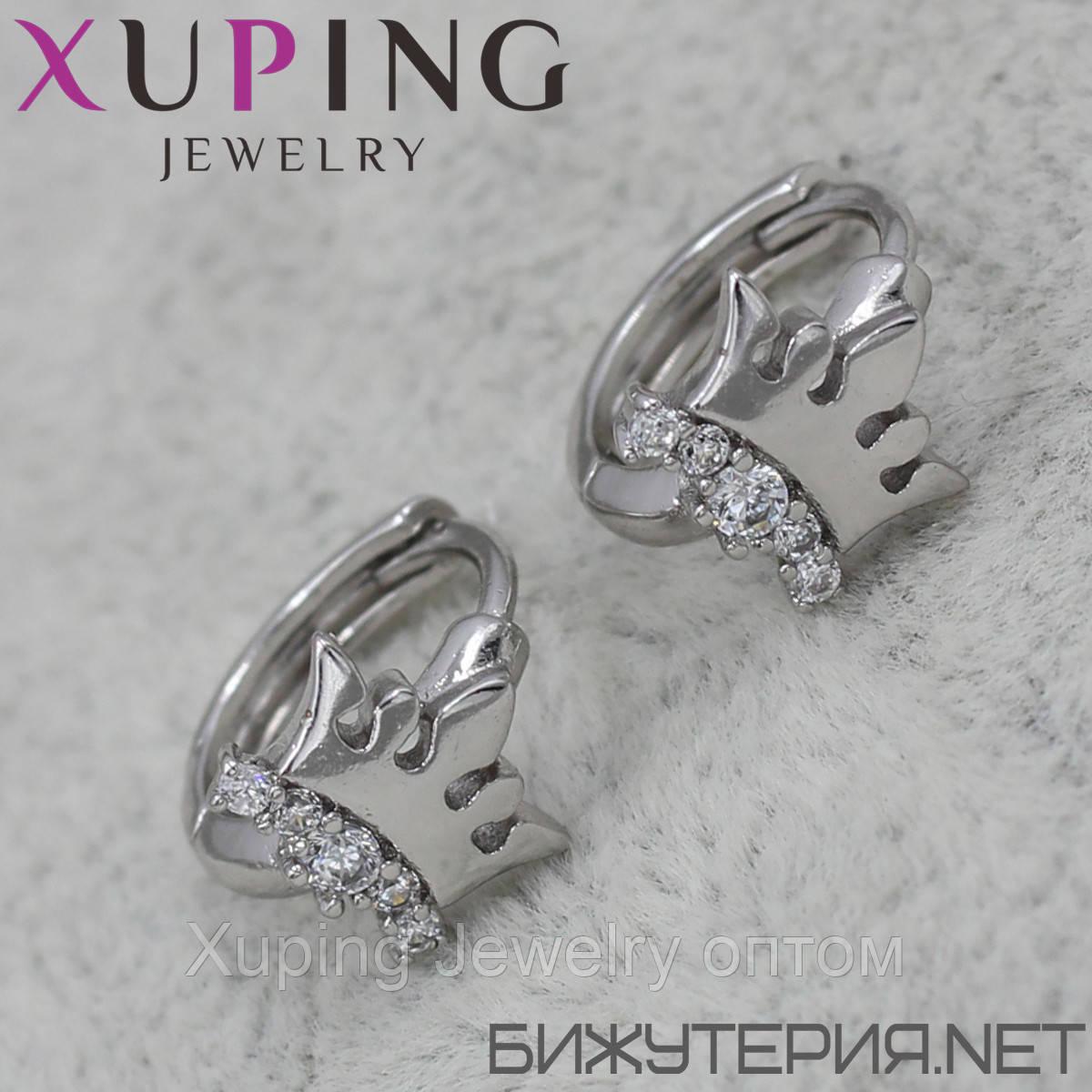 Серьги Xuping медицинское золото Silver - 1029262876