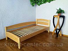 """Ліжко односпальне кутова з масиву дерева """"Березня - 2"""" від виробника"""
