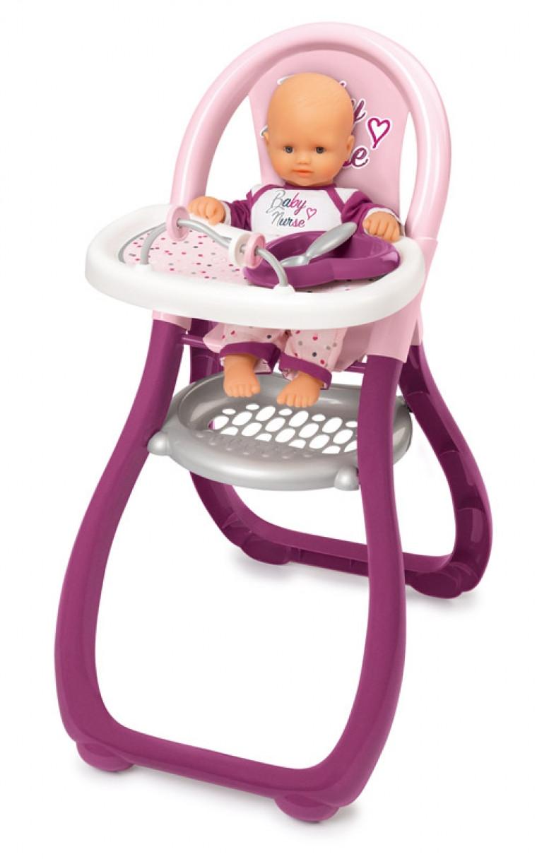 Стульчик «Бэби Нёрс Прованс» Smoby Baby Nurse для кормления, с аксес. , 220342
