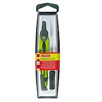 Циркуль Herlitz із запасними грифелями зелений