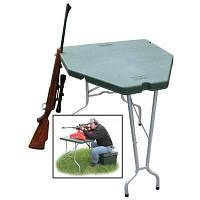 Стол для стрельбы MTM Predator Shooting Table. Материал – пластик и алюминий. Цвет – зеленый. (PST-11)