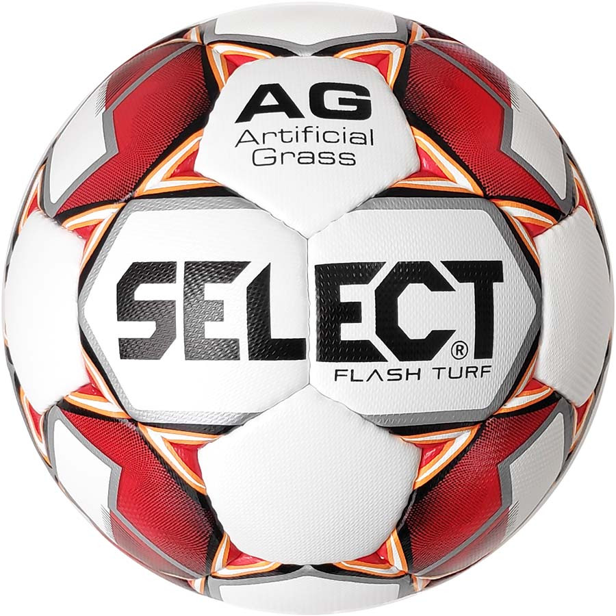 Мяч футбольный SELECT Flash Turf (012) бел/красн р. 4