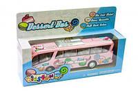 Машинка KINSFUN Автобус розовый.